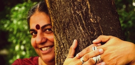 Vandana Shiva Hugging Tree